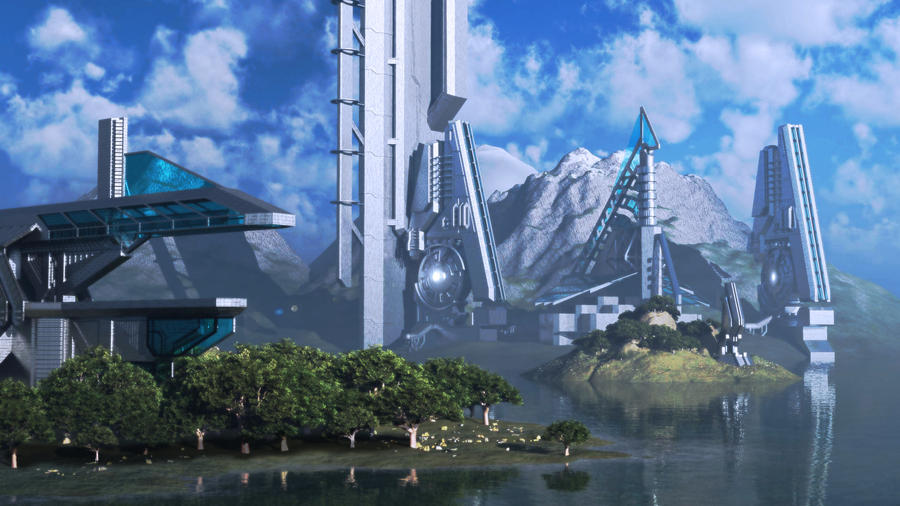 Forerunner Island by DarklordIIID
