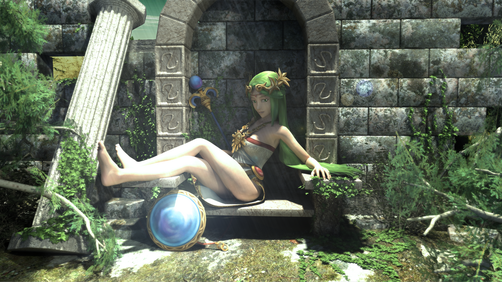 Palutena Pinup by DarklordIIID