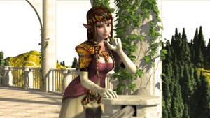 Zelda on the Veranda III