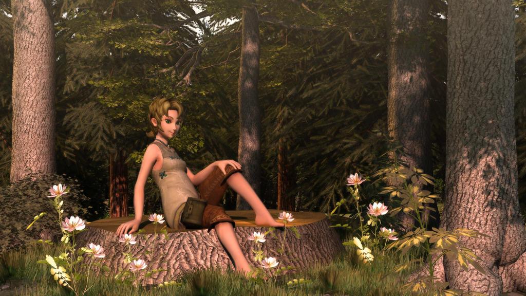 Ilia in the Woods II by DarklordIIID