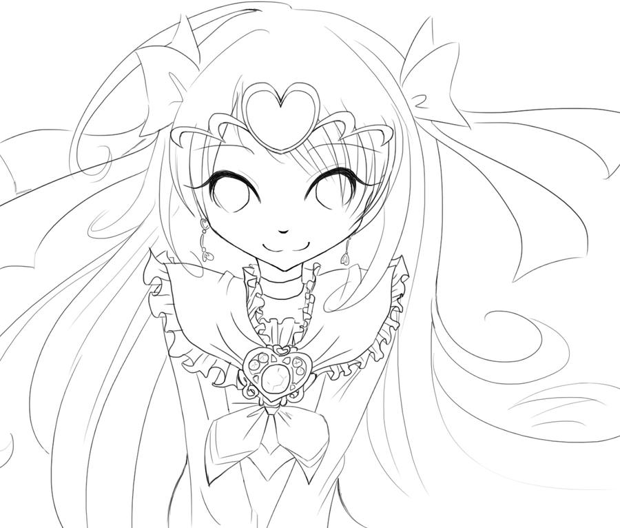 Cure Muse Lineart by Chancetodraw
