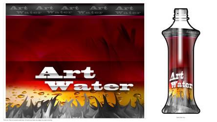Art water Bottle - Power red by Bolkadesign