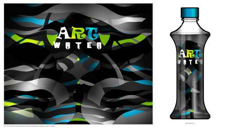 Art water Bottle-dark Art by Bolkadesign