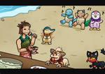 [PKMNation] Party on the beach by StrikeYoko