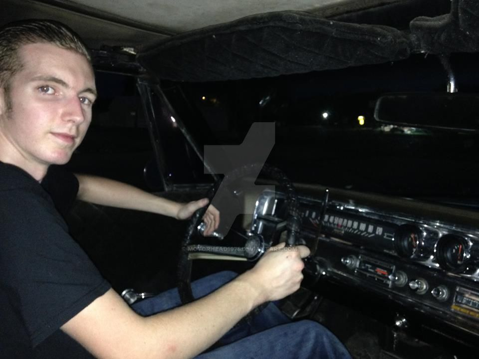 Me in the drivin' seat of my 65 Catalina. by motorhead1975