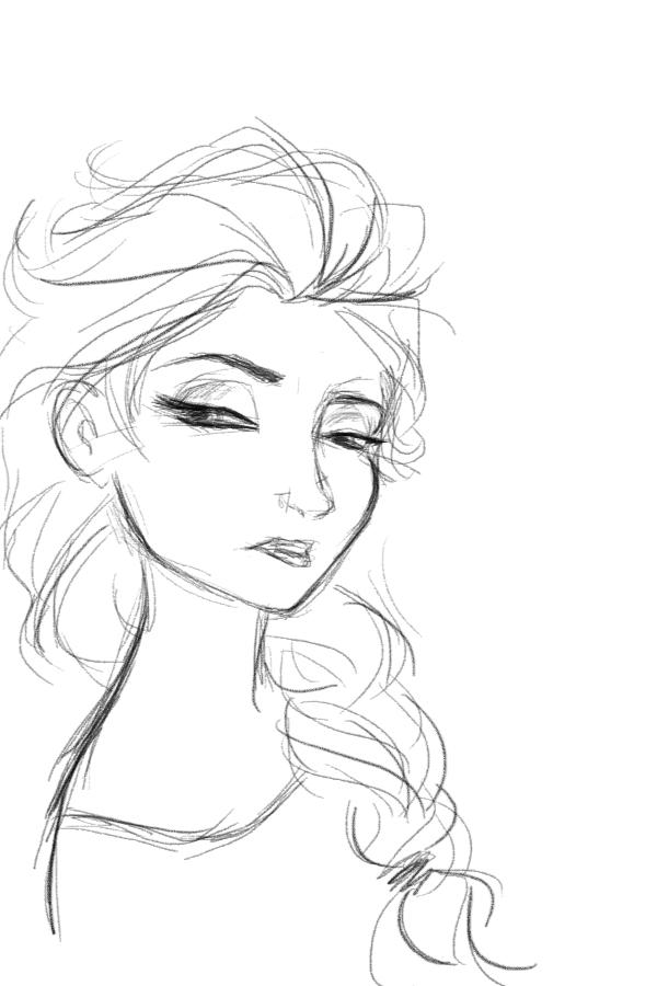 how to draw princess elsa frozen