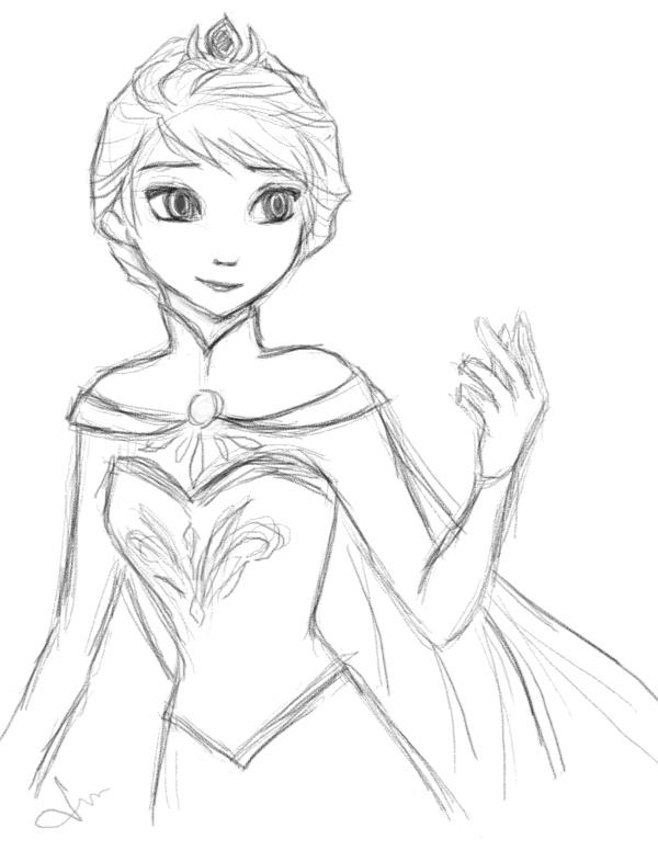 Queen Elsa Drawing Tumblr Queen elsa by septyong