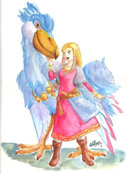 Zelda and her Bird