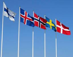 nordic flags by hetalialover749