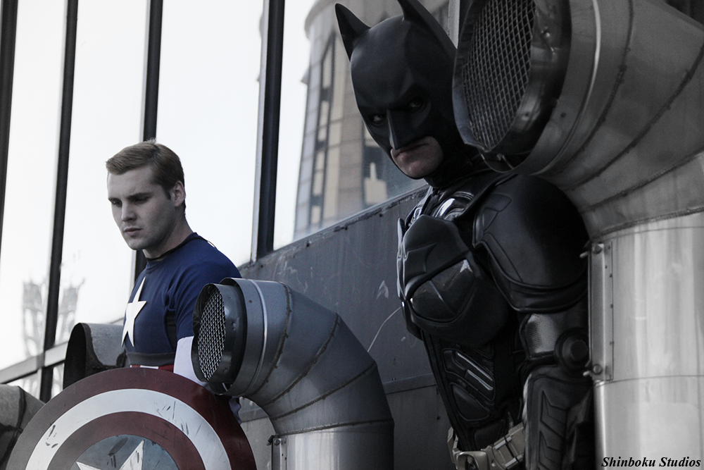 Batman and Captain America by RisingParadise