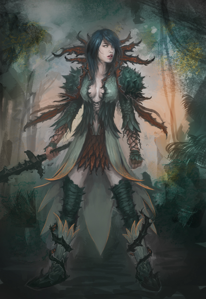 Medium NightmareCourt character concept by XiaMan