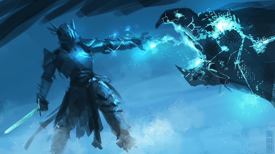 Lightening knight speedpainting by XiaMan