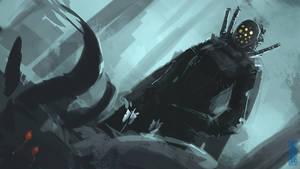 Poison Dart assassin speedpainting by XiaTaptara