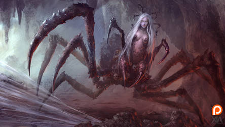 Spider Queen - Arachne by XiaTaptara