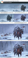 Concept art step by step Knight of Axe by XiaTaptara