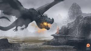 Dragon girl by XiaTaptara