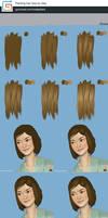 Painting hair tutorial step by step by XiaTaptara
