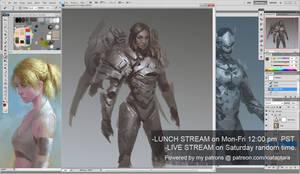 Pharah drawing Overwatch LIVE stream 43