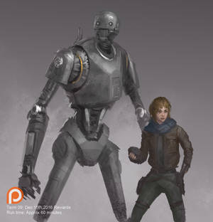 Jyn Erso and K-2SO