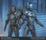 Overwatch Pharah and Genji