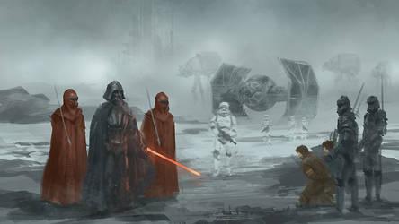 Star Wars Darth Vader and guards