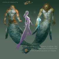 Mermaid and Sea lion by XiaTaptara