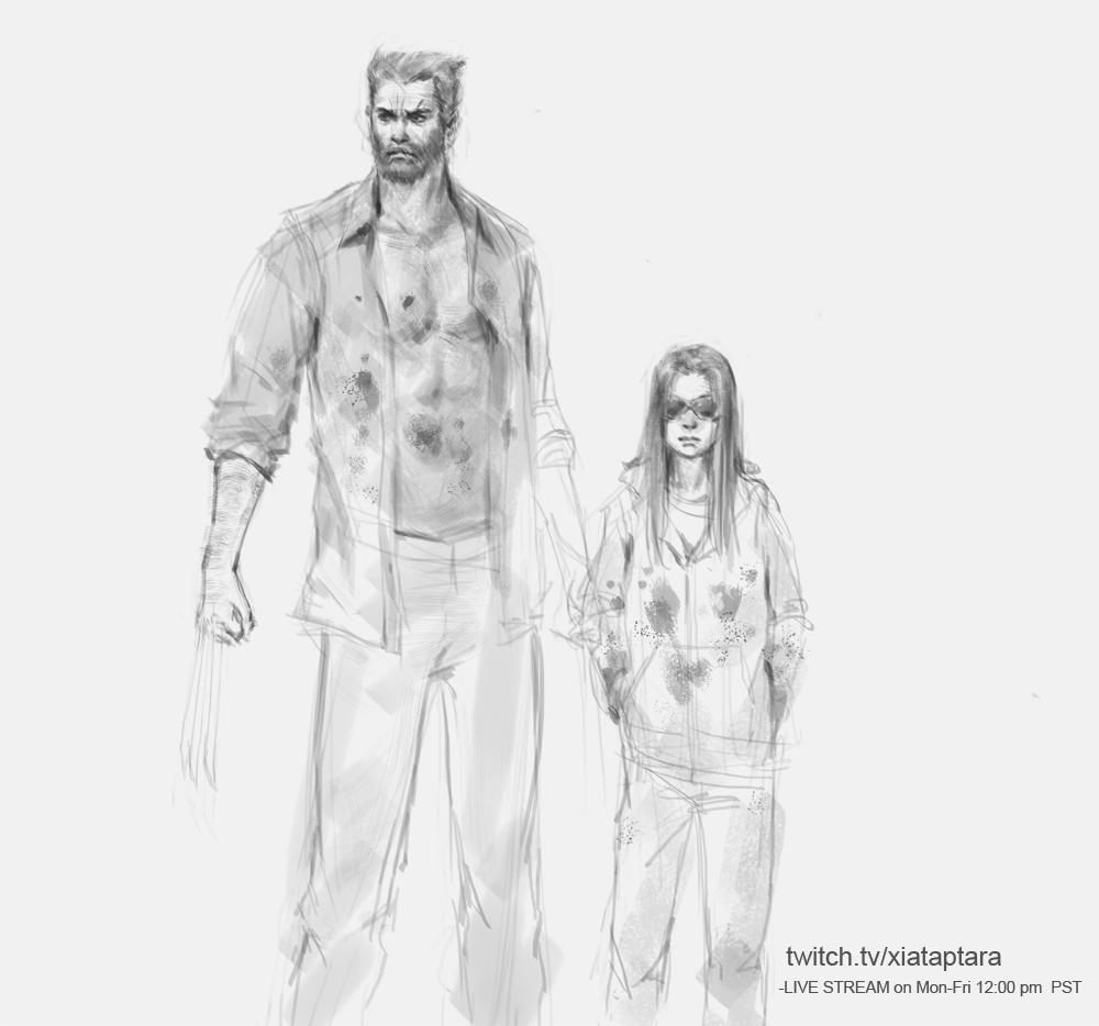Logan and cub by XiaTaptara