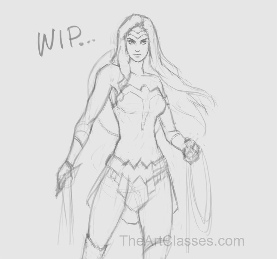 Daily sketch 130 Wonder woman by XiaTaptara