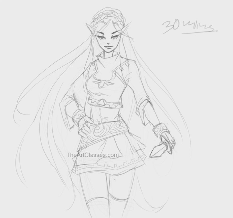 Princess Zelda from Live stream 132 by XiaTaptara
