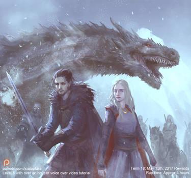 Daenerys and Jon by XiaTaptara