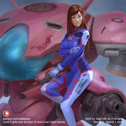Overwatch D.Va by XiaTaptara