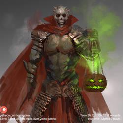 Knight of skull sketch by XiaTaptara