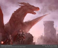 Aegon on Dragonstone quick concept art by XiaTaptara