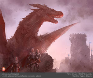 Aegon on Dragonstone quick concept art