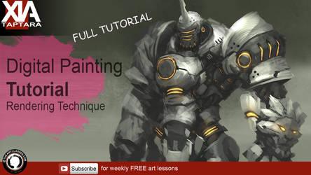 Digital painting tutorial: Rendering monochrome