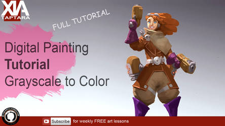 Coloring over grayscale: Digital painting tutorial