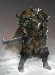 Long winter knight character design