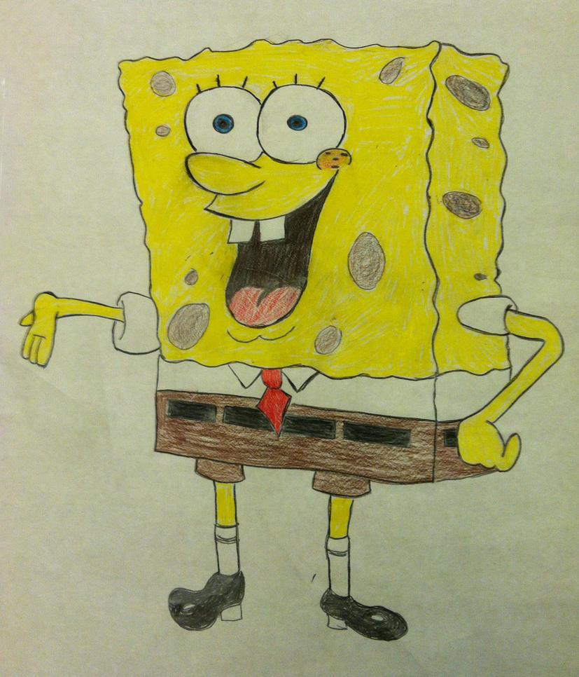 Spongebob Squarepants--white background by deborah-107 on ...