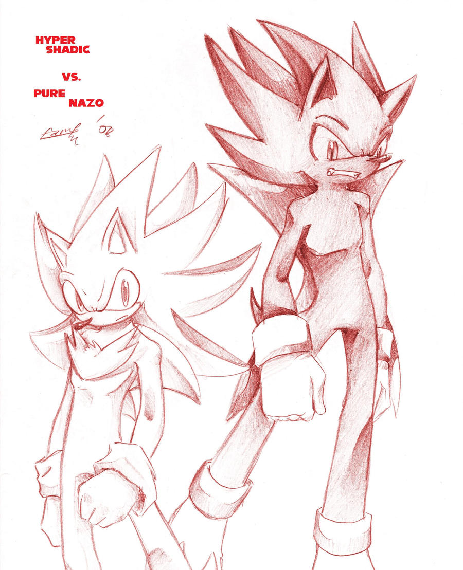Hyper Shadic Vs. Pure Nazo by V1ciouzMizzAzn on DeviantArt