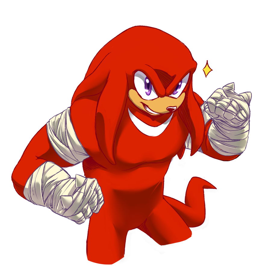 Sonic Boom style Knux by V1ciouzMizzAzn