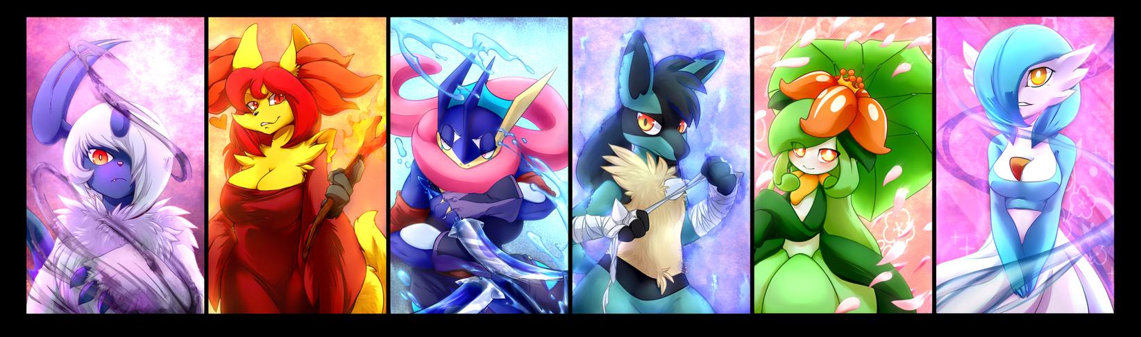 Aero's Pokemon team by V1ciouzMizzAzn