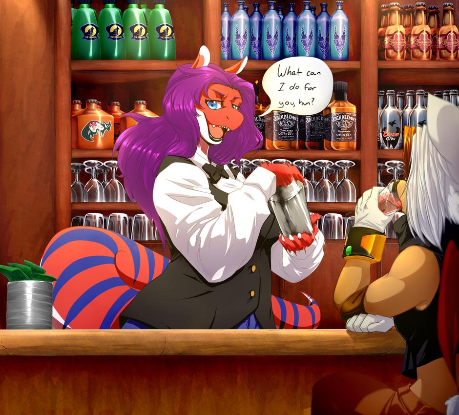 Aly-d The Bartender by V1ciouzMizzAzn