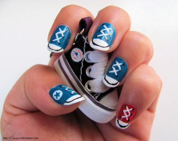 507aaa99edc0 Converse Nail Art by Coercri on DeviantArt