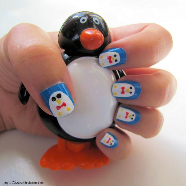 Penguin Nail Art Designs: Penguin Nail Art By Coercri On DeviantArt