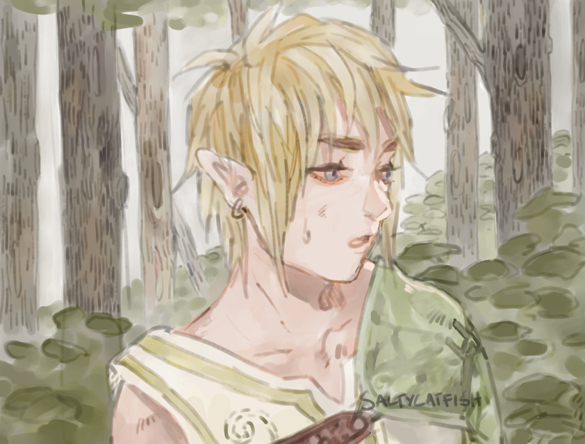 LoZ: Forest by saltycatfish