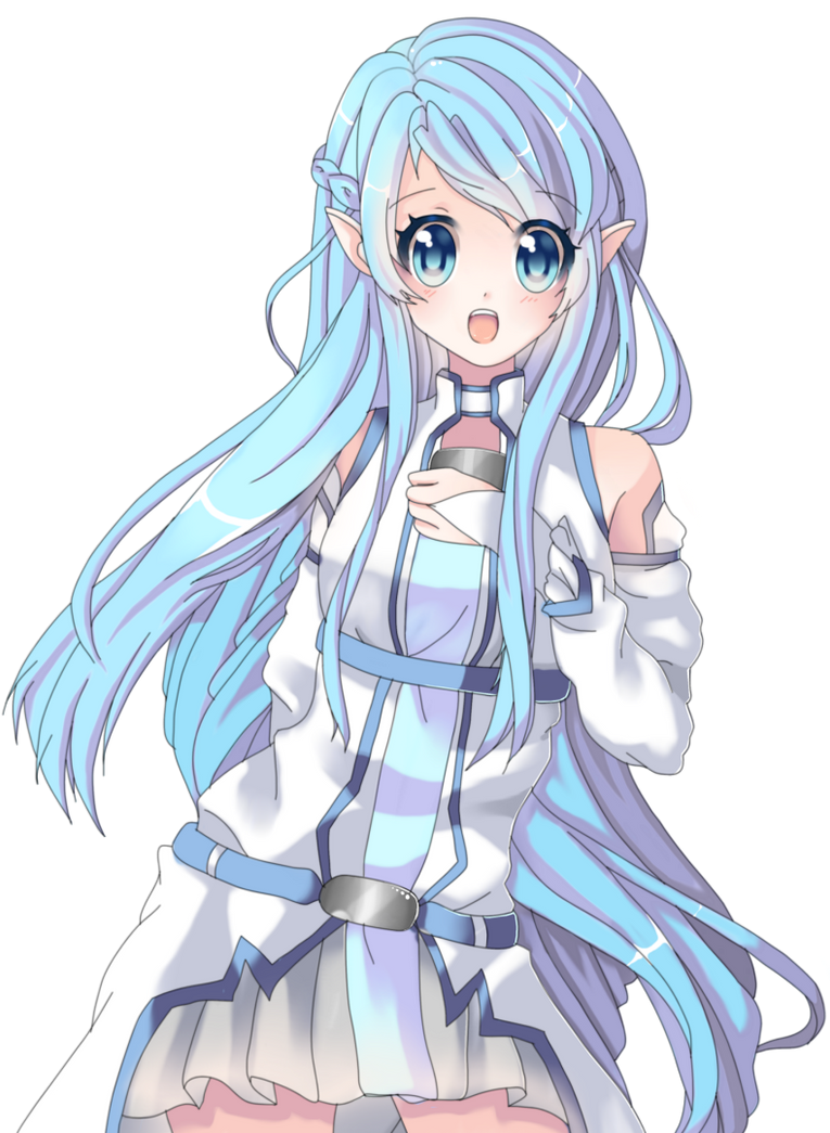 sao wallpapers asuna blue hair - photo #15