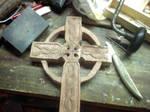 Rough Cedar Celtic Cross by ProdigalComingHome