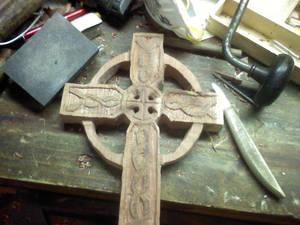 Rough Cedar Celtic Cross