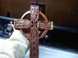 Celtic Cross Varnished