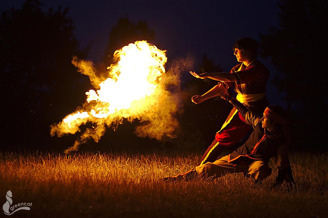 Firebending by greengreencat